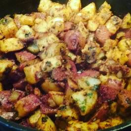 Yummy Red breakfast potatoes today!