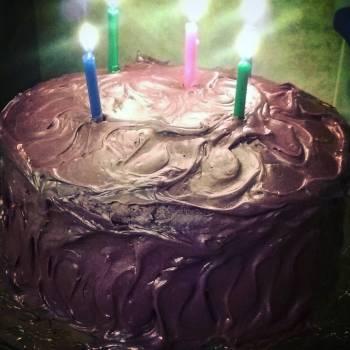 Happy Birthday to my Hubby, Paul yesterday!! Vegan, gfree chocolate cake!